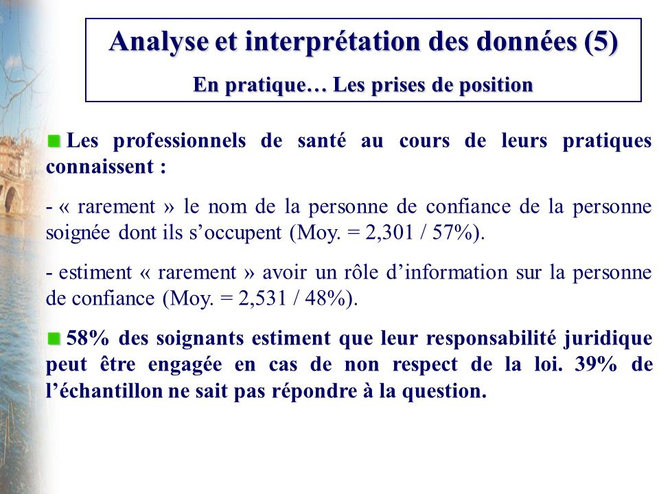 Analyse et interprétation des données (5)