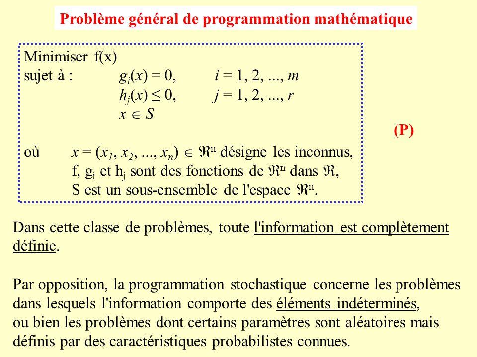 Problème général de programmation mathématique