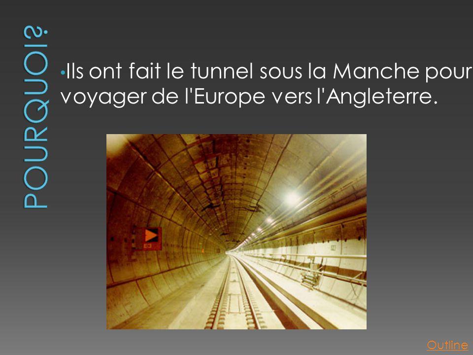 Pourquoi Ils ont fait le tunnel sous la Manche pour voyager de l Europe vers l Angleterre. Outline
