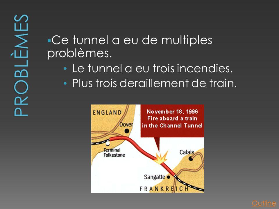 Problèmes Ce tunnel a eu de multiples problèmes.