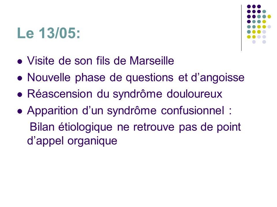 Le 13/05: Visite de son fils de Marseille