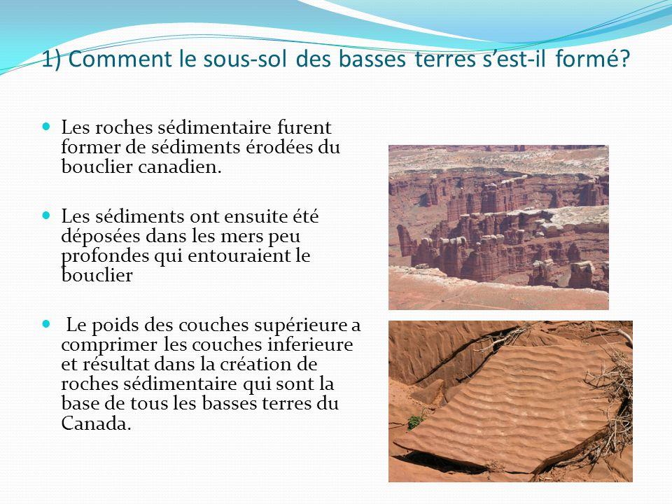 1) Comment le sous-sol des basses terres s'est-il formé