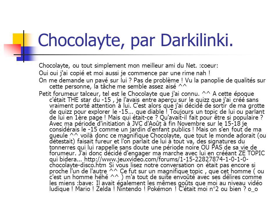 Chocolayte, par Darkilinki.