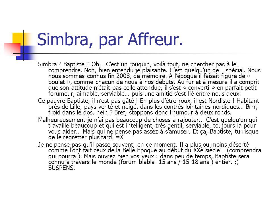 Simbra, par Affreur.