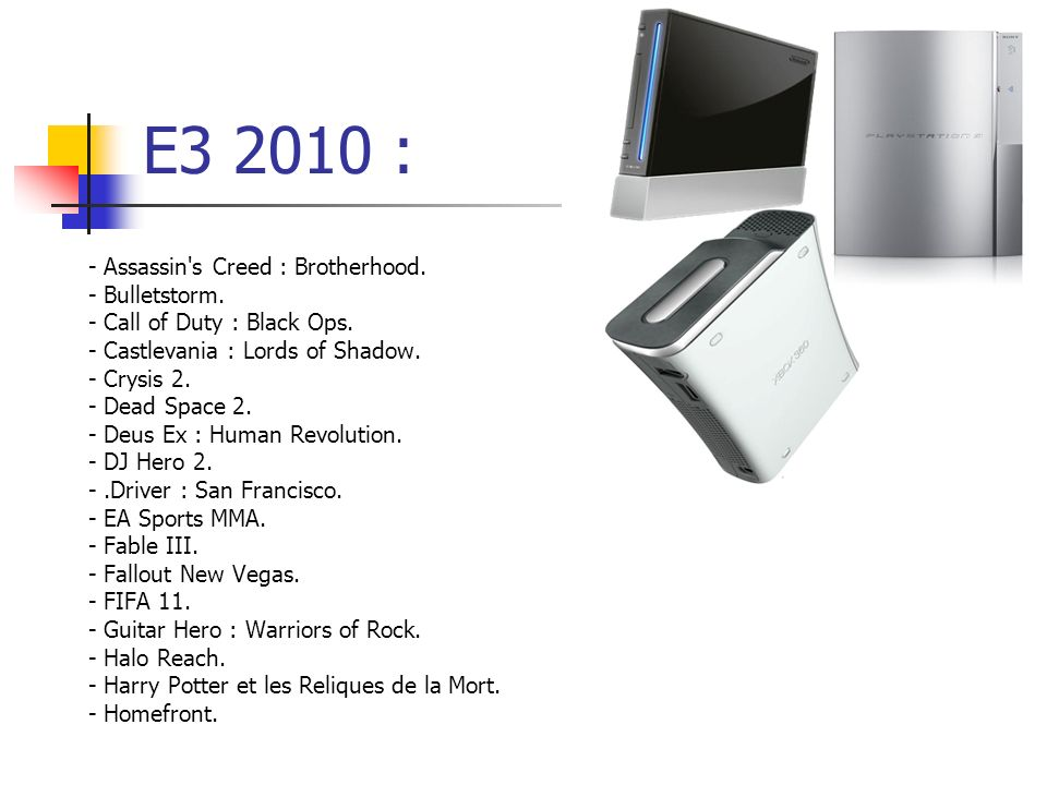 E3 2010 : - Assassin s Creed : Brotherhood. - Bulletstorm.