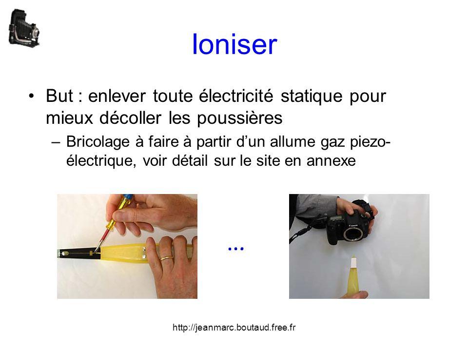 Ioniser But : enlever toute électricité statique pour mieux décoller les poussières.