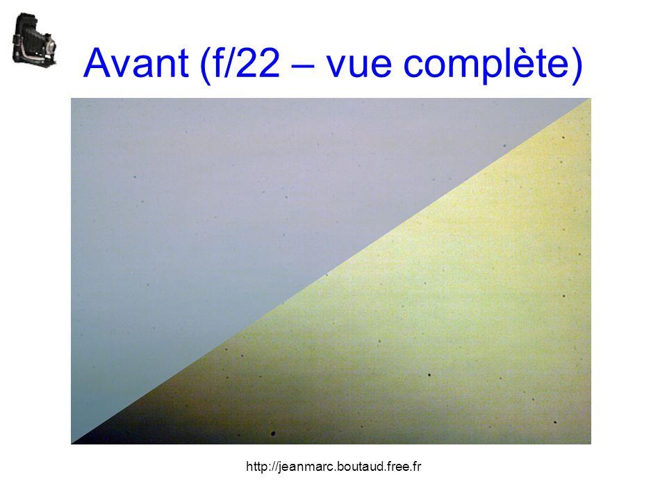 Avant (f/22 – vue complète)