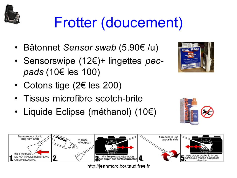 Frotter (doucement) Bâtonnet Sensor swab (5.90€ /u)