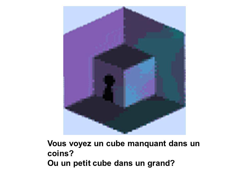 Vous voyez un cube manquant dans un coins