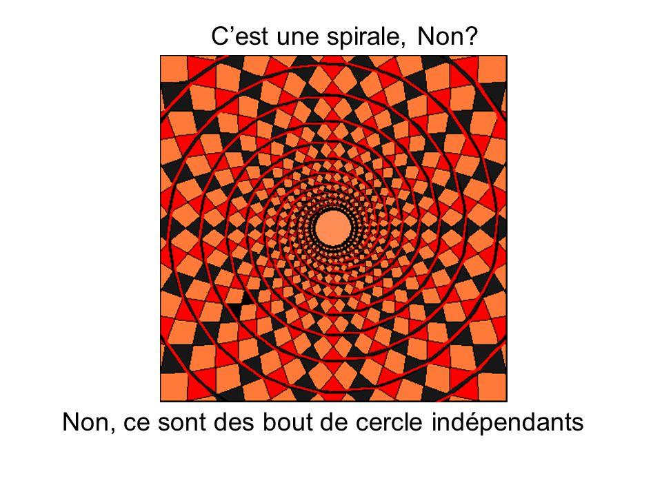 C'est une spirale, Non Non, ce sont des bout de cercle indépendants