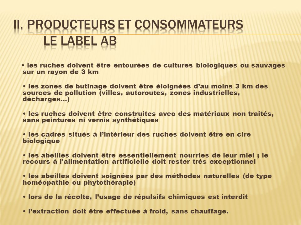 II. Producteurs et consommateurs le label ab