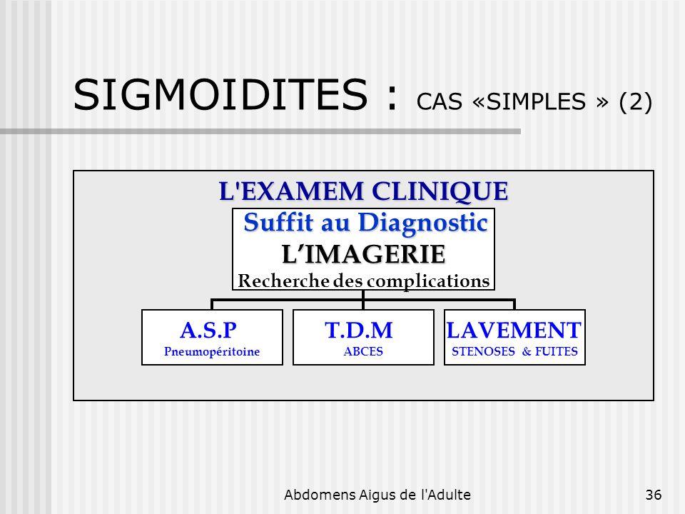 SIGMOIDITES : CAS «SIMPLES » (2)