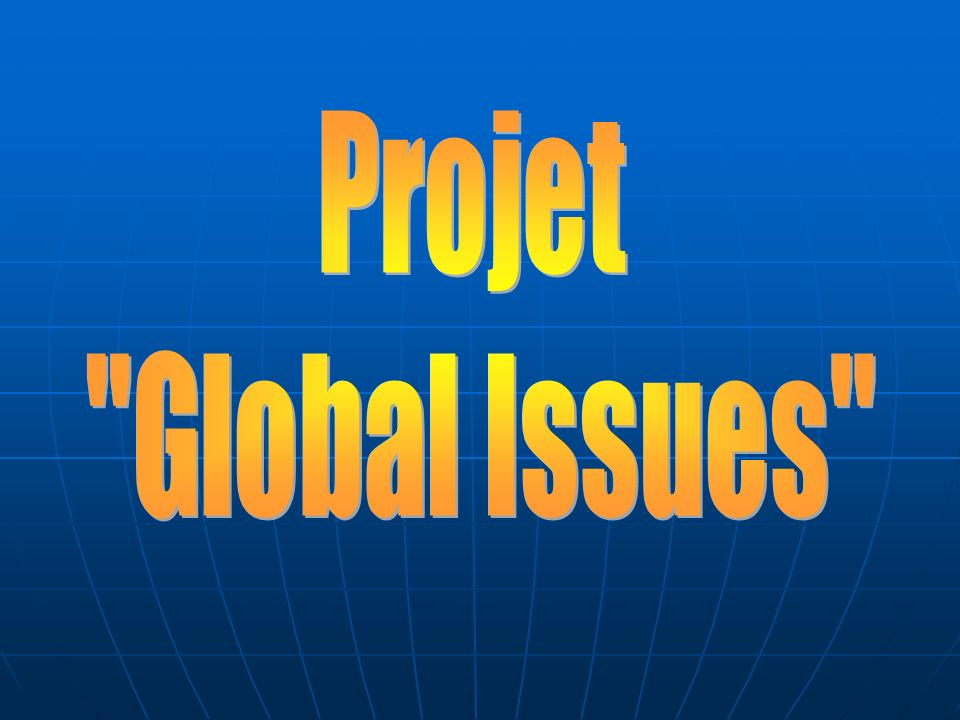 Projet Global Issues
