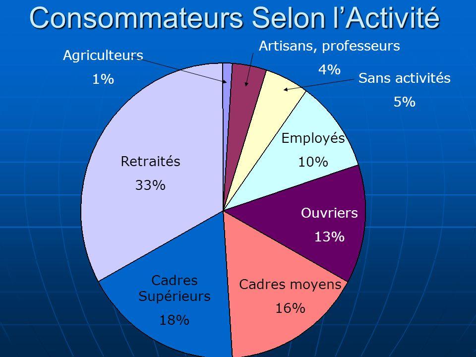 Consommateurs Selon l'Activité