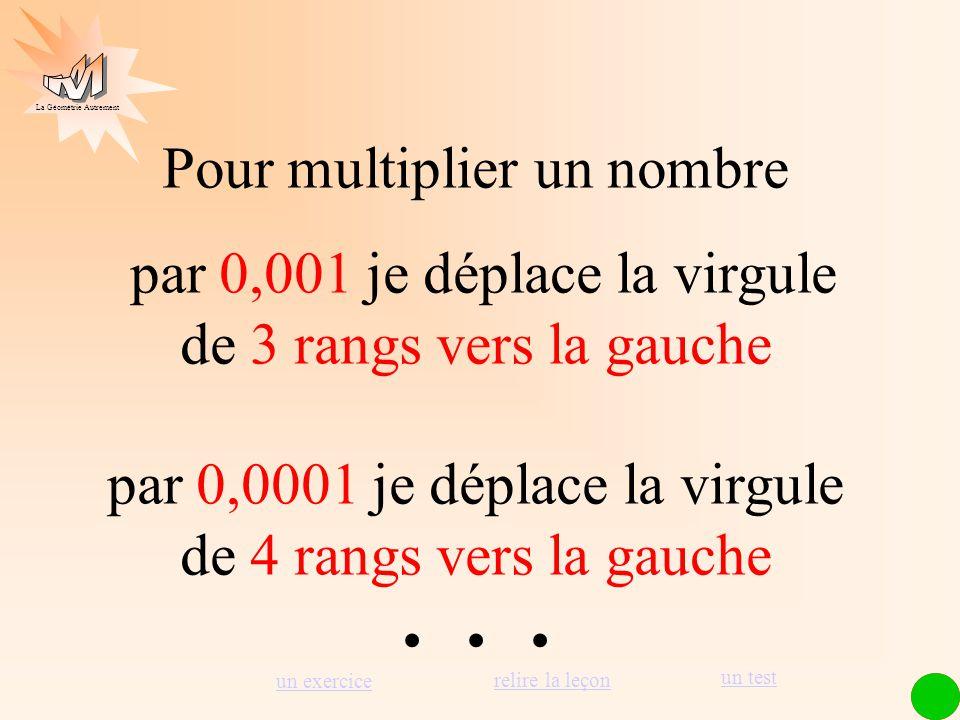 . . . Pour multiplier un nombre par 0,001 je déplace la virgule