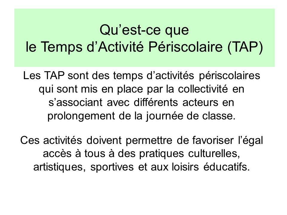 Qu'est-ce que le Temps d'Activité Périscolaire (TAP)