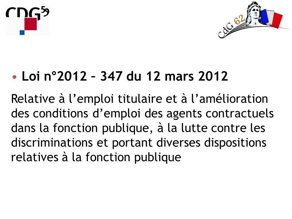 Loi n°2012 – 347 du 12 mars 2012