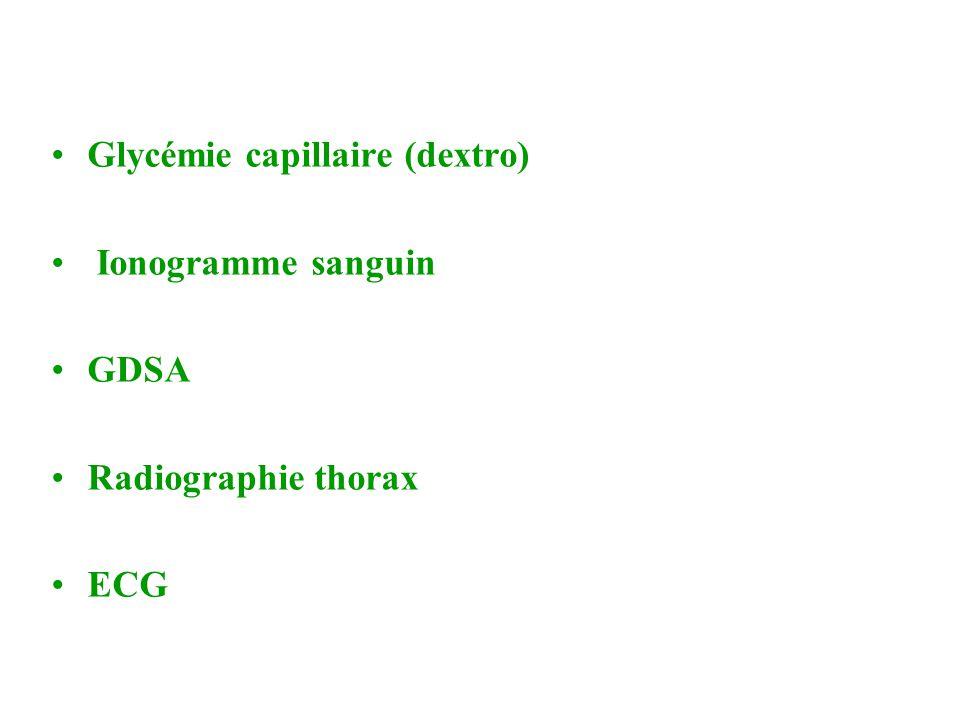Glycémie capillaire (dextro)