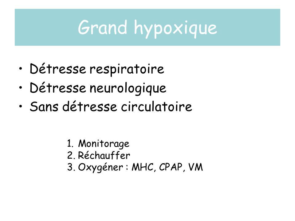 Grand hypoxique Détresse respiratoire Détresse neurologique