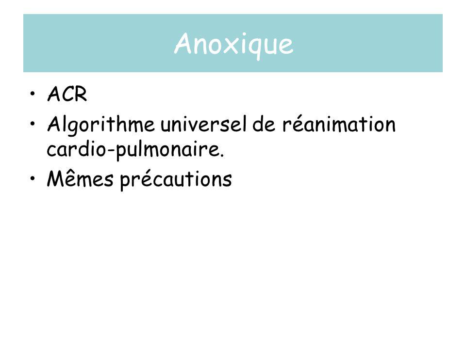 Anoxique ACR Algorithme universel de réanimation cardio-pulmonaire.