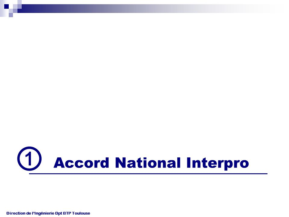 ① Accord National Interpro