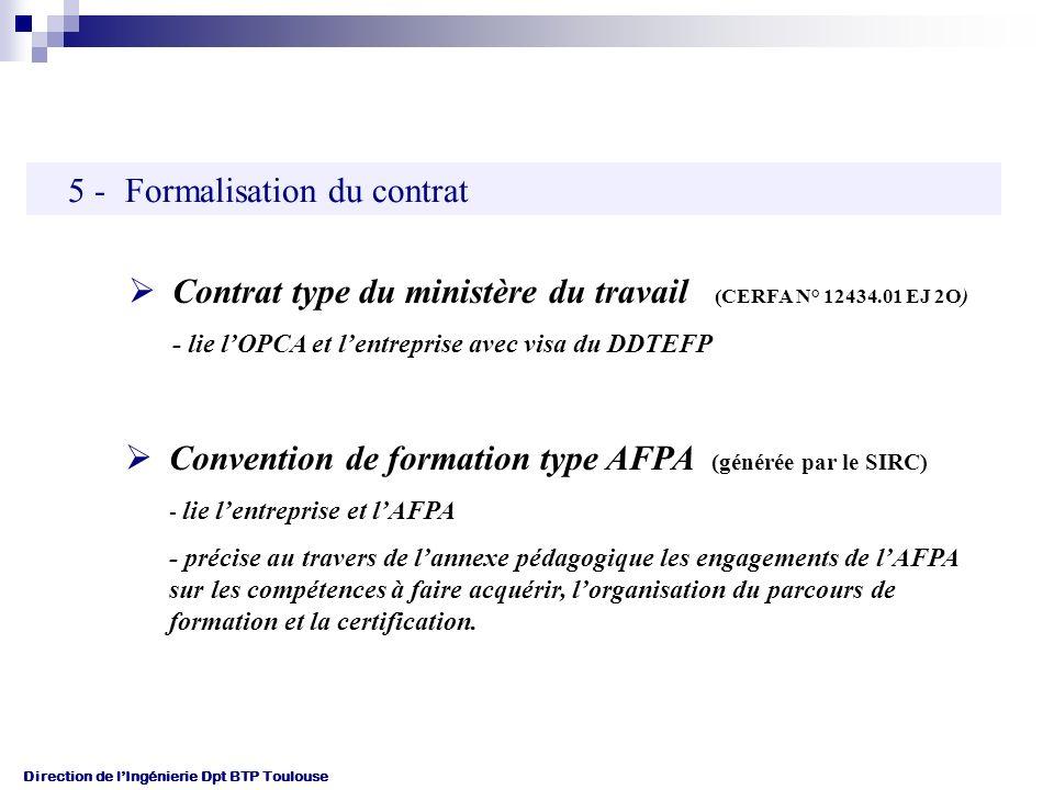 5 - Formalisation du contrat