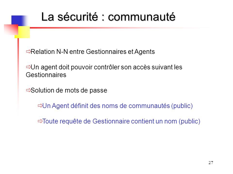 La sécurité : communauté