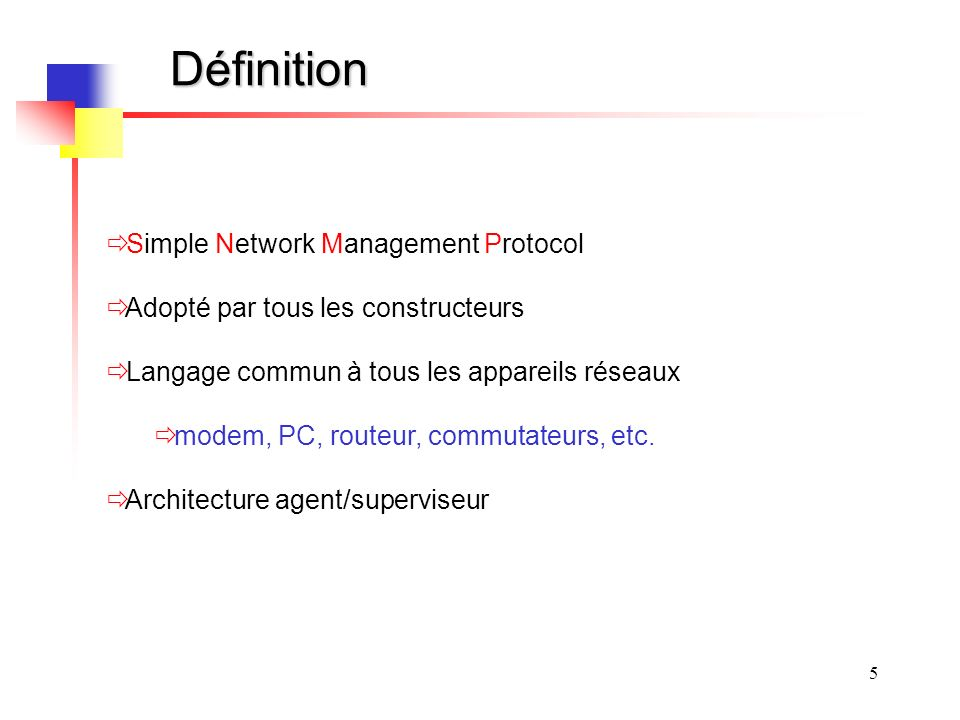 Définition Simple Network Management Protocol