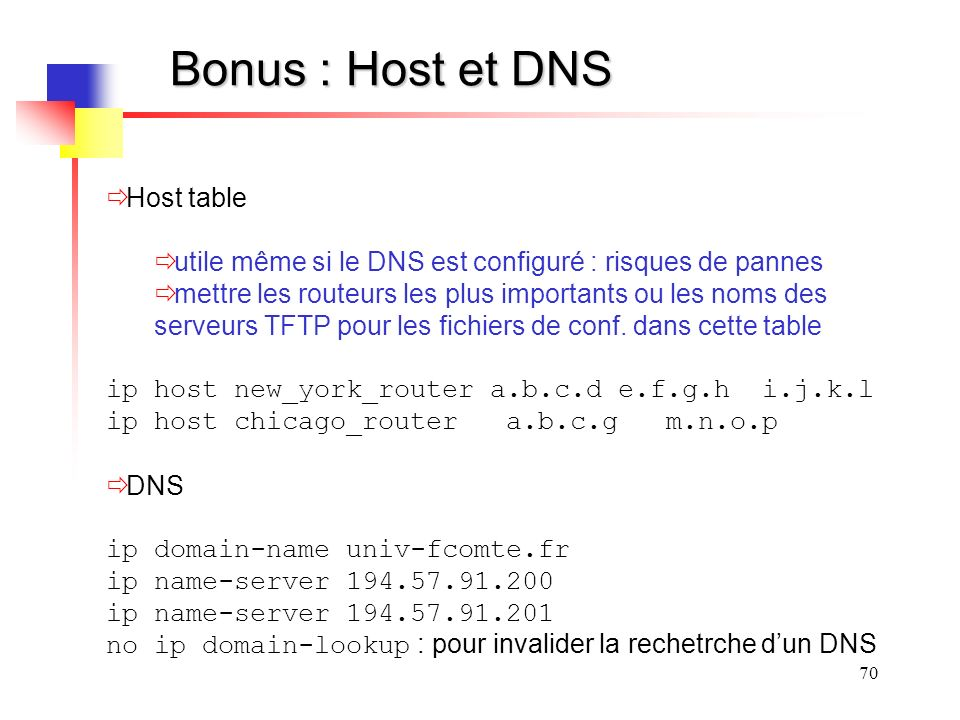Bonus : Host et DNS Host table