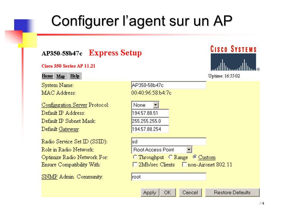 Configurer l'agent sur un AP