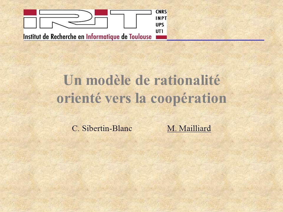 Un modèle de rationalité orienté vers la coopération