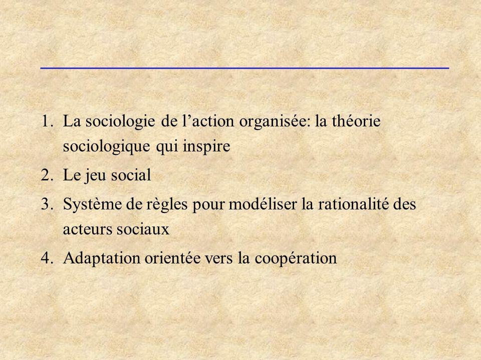 Système de règles pour modéliser la rationalité des acteurs sociaux
