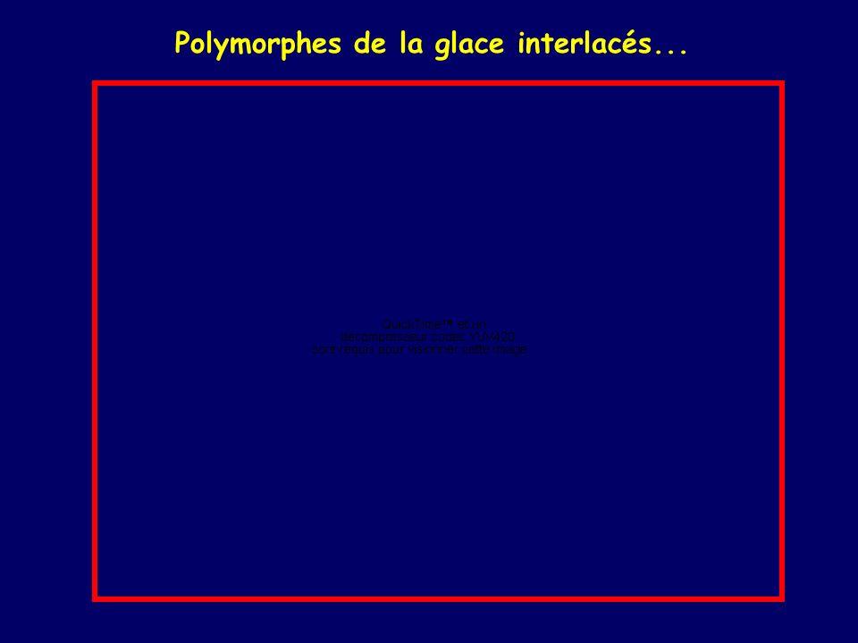 Polymorphes de la glace interlacés...