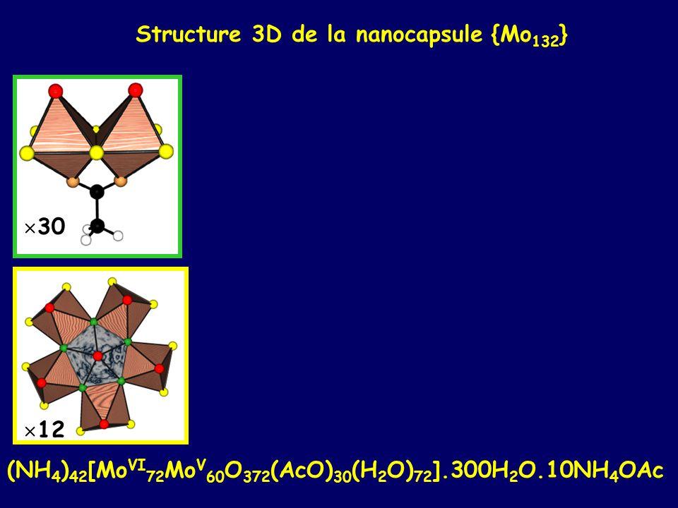 Structure 3D de la nanocapsule {Mo132}