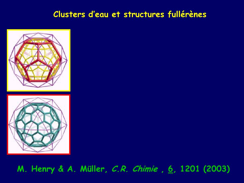 M. Henry & A. Müller, C.R. Chimie , 6, 1201 (2003)