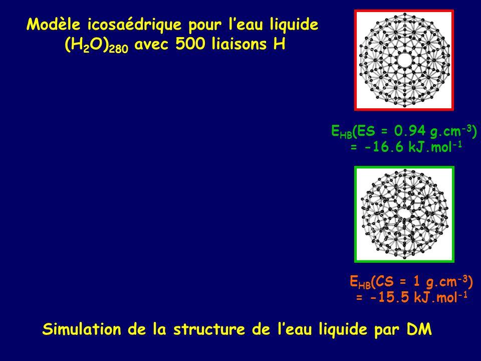 Modèle icosaédrique pour l'eau liquide