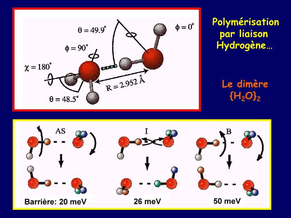 Polymérisation par liaison Hydrogène… Le dimère {H2O}2
