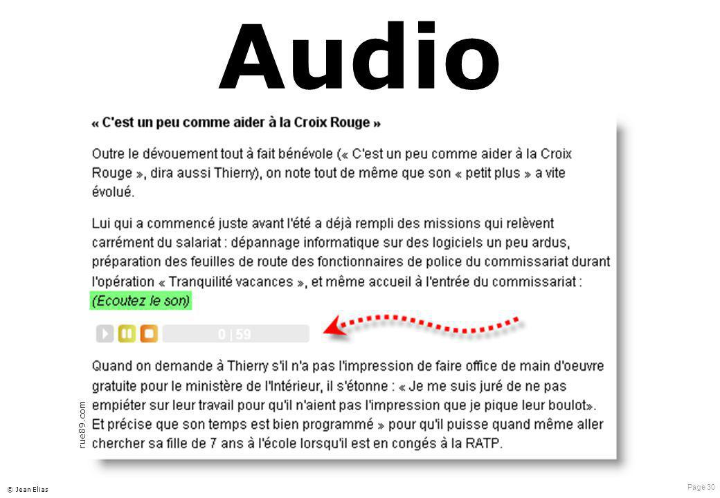 Audio rue89.com © Jean Elias