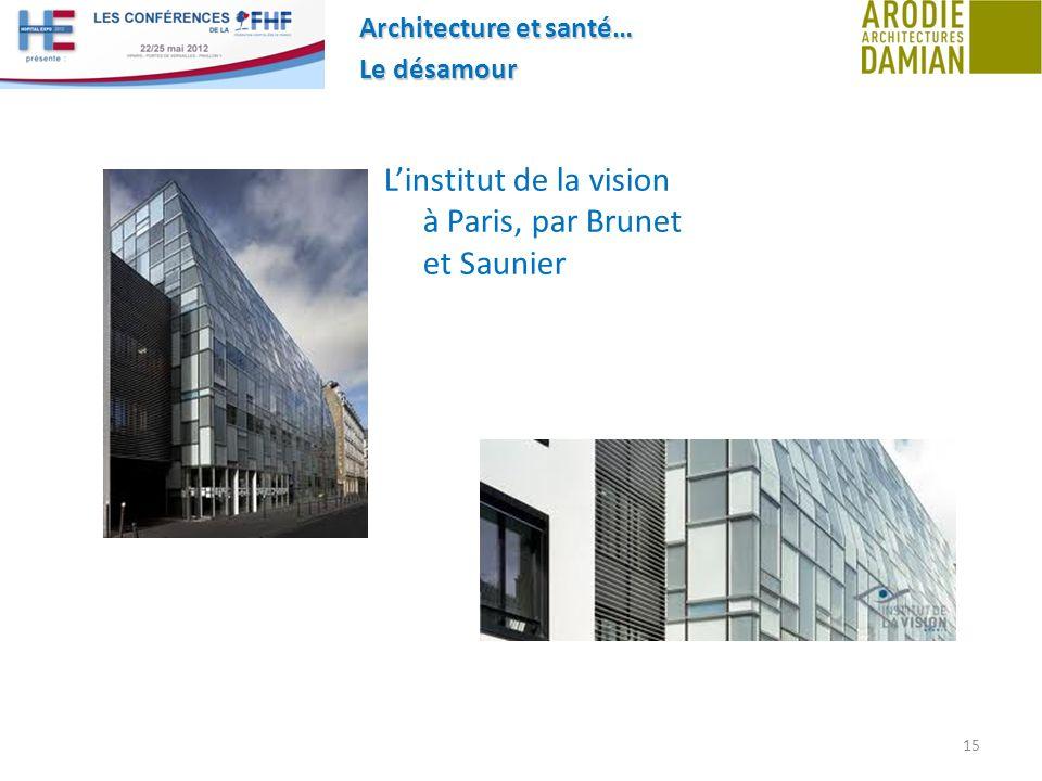 L'institut de la vision à Paris, par Brunet et Saunier