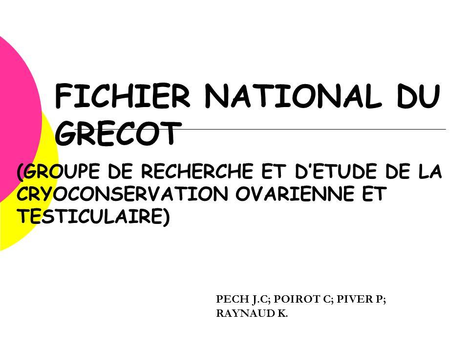 FICHIER NATIONAL DU GRECOT