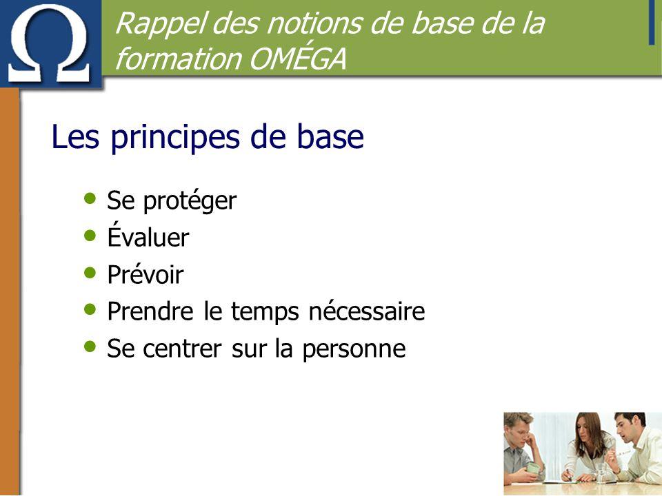 Les principes de base Rappel des notions de base de la formation OMÉGA