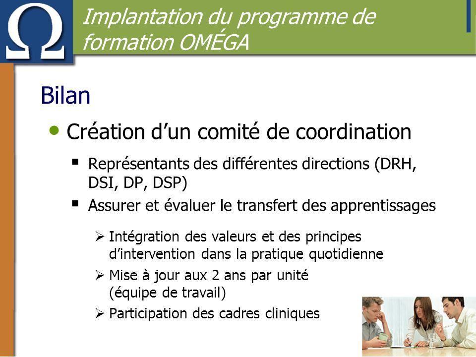 Création d'un comité de coordination