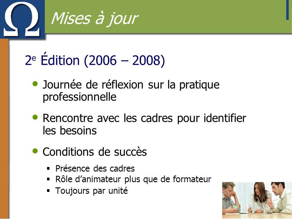 Mises à jour 2e Édition (2006 – 2008)