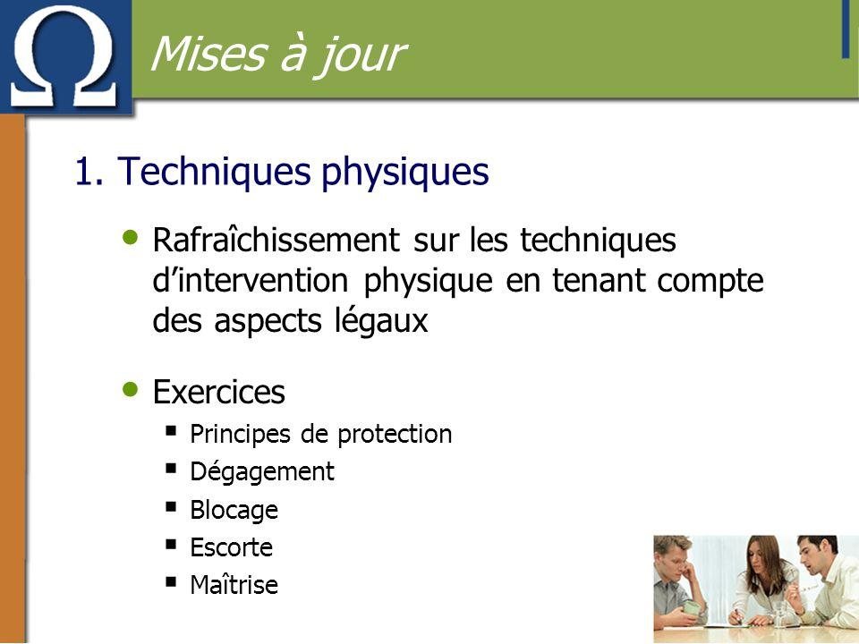 Mises à jour 1. Techniques physiques