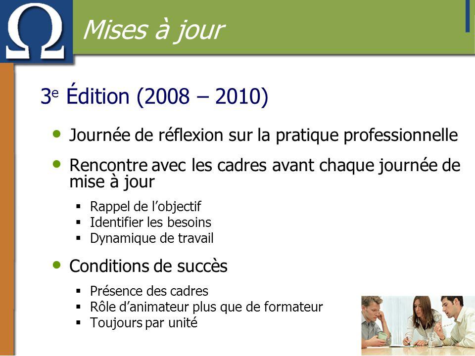 Mises à jour 3e Édition (2008 – 2010)