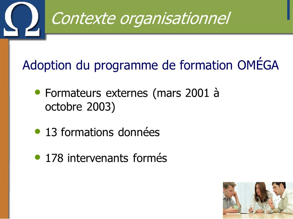 Adoption du programme de formation OMÉGA