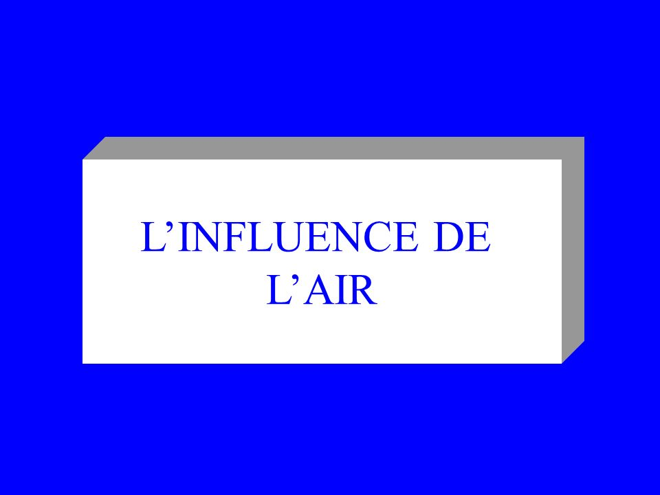 L'INFLUENCE DE L'AIR