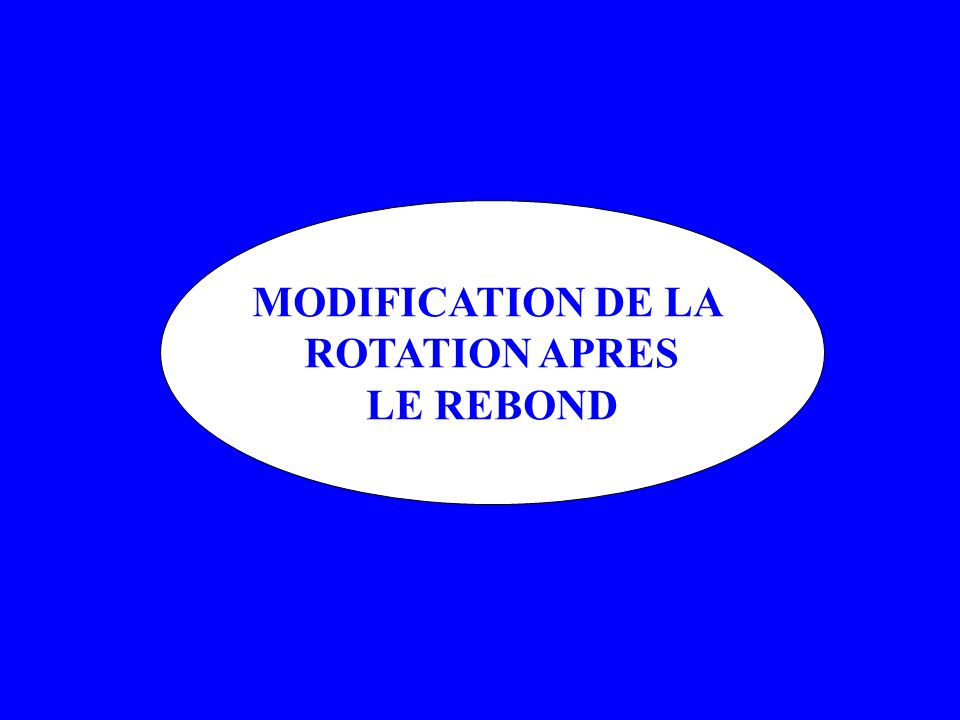 MODIFICATION DE LA ROTATION APRES LE REBOND