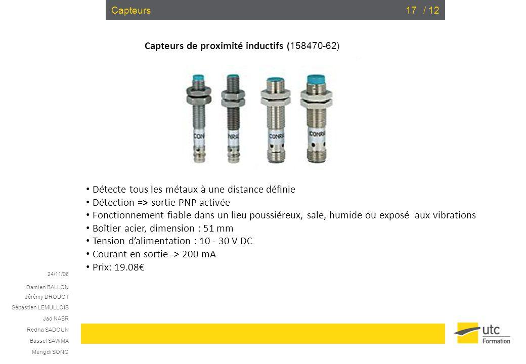 Capteurs de proximité inductifs (158470-62)