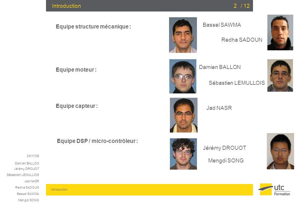 Equipe structure mécanique : Bassel SAWMA